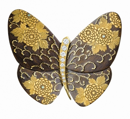 Van Cleef & Arpels Kikumakie brooch, 2004 - Gorgeous