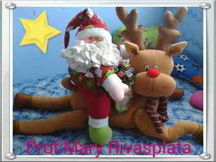 Papa Noel con reno aplastado