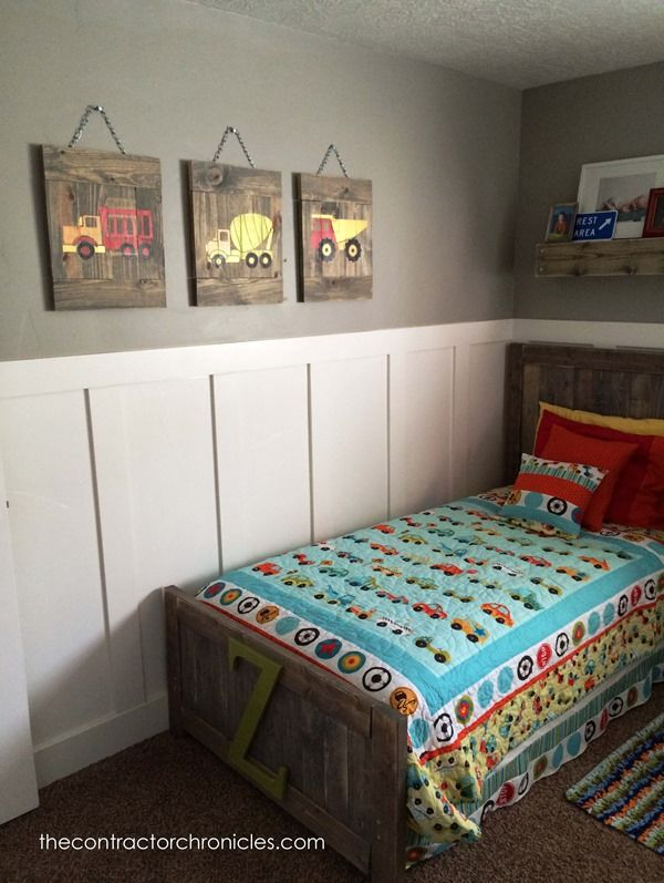 Boys Rustic Transportation Bedroom - The Contractor Chronicles
