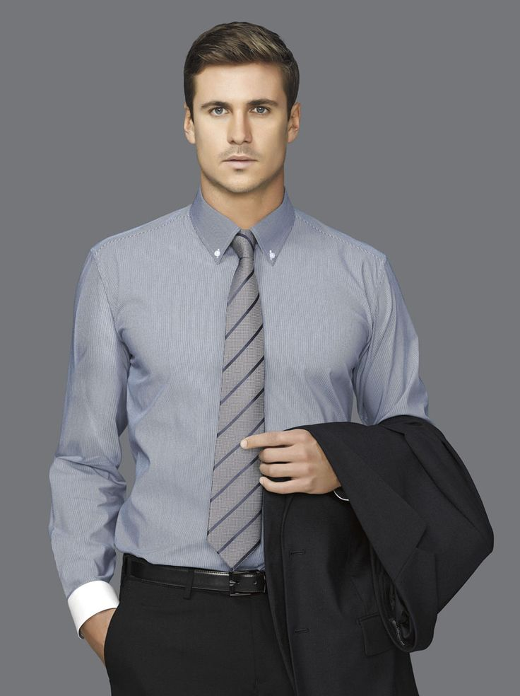 Fifth Avenue Long Sleeve Shirt #bizcorporates #boulevard #fifthavenue #stripedshirt