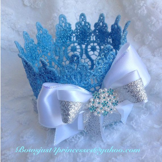 Frozen crown,Blue crown,Queen Elsa Crown,Birthday Outfit,Photo Prop,Cake Topper,Princess Crown,Queen Crown,frozen Headband!!! on Etsy, $18.00