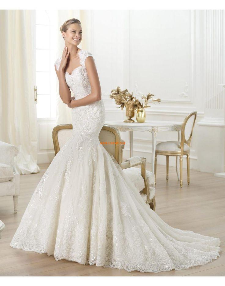 Spets Chic & Modern Cap Bröllopsklänningar 2014