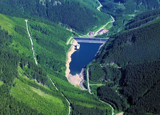 Vodní elektrárna Dlouhé stráně – dolní nádrž   Jeseníky
