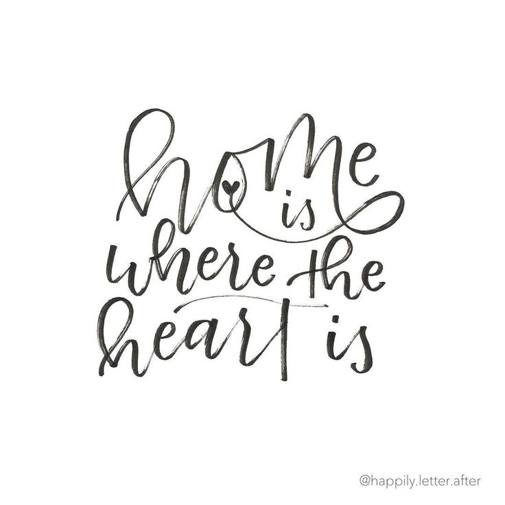 lettering design: home is where the heart is // happily.letter.after