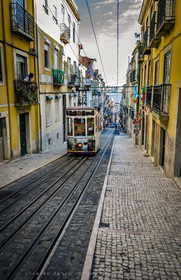 "The ""Bica"" Funicular - Lisbon, Portugal by Ricardo Bahuto Felix on 500px"