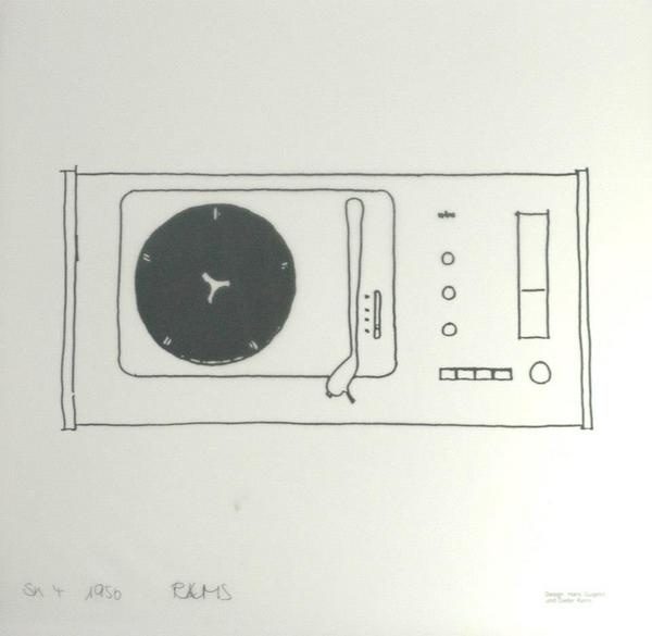 SK 4 original design sketch by Dieter Rams