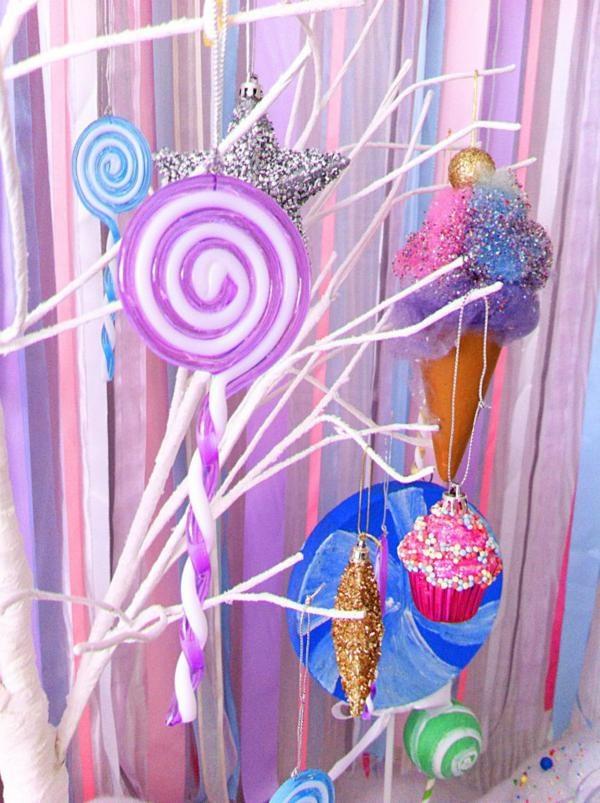 Cute ice cream cones and lollipop tree