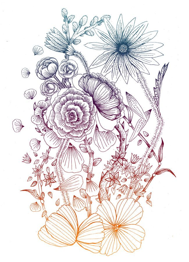 floral tattoo.