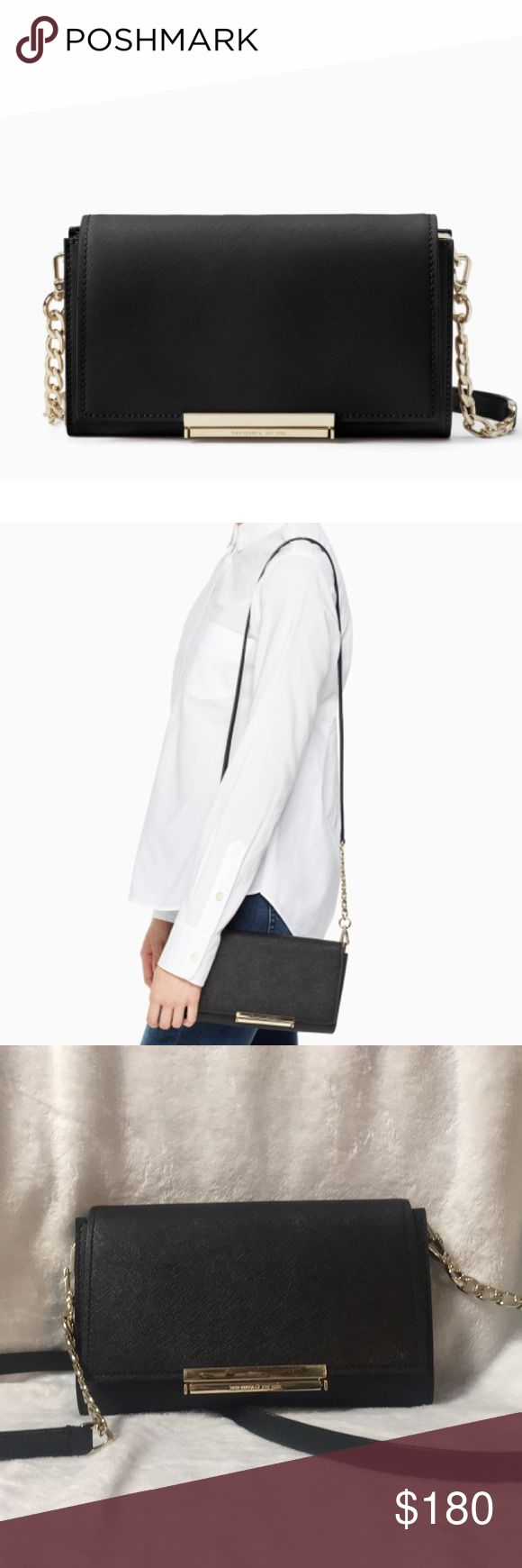 Kate Spade Make It Mine Camilla Black Crossbody This crossbody was purchased in August 2017, the one clasp appears to have ripped a bit, but isn't noticeable while the purse is closed. Has full wallet inside. Minor scratching on the clasp and minor wear overall. Retails currently for $258 kate spade Bags Crossbody Bags