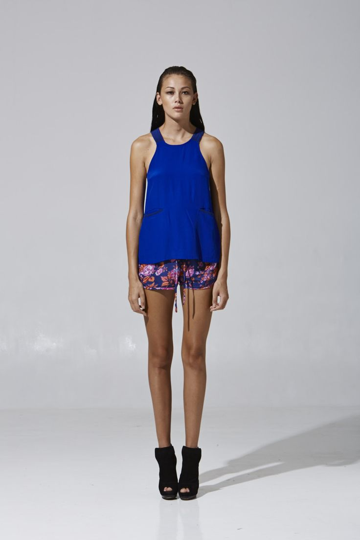 Violet Pocket Singlet with Augustine Shorts | Party collection 2013