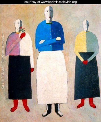 Three women - Kazimir Severinovich Malevich - www.kazimir-malevich.org