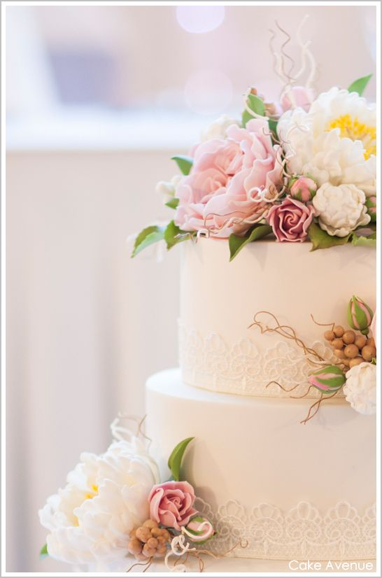 .: Lace Cakes, Pink Cakes, Simple Cakes, David Austin, Wedding Cakes, Cakes Flowers, English Rose, Beautiful Cakes, Sugar Flowers