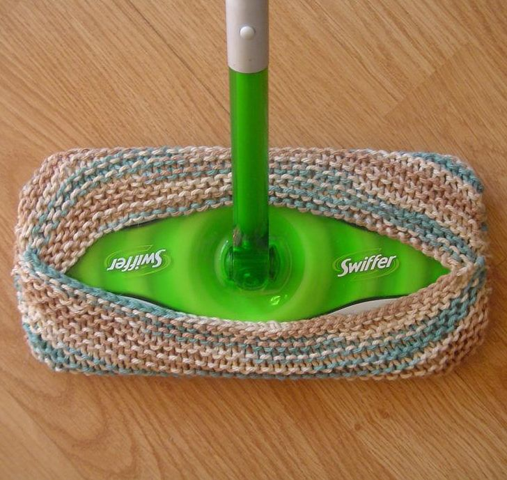 Free Knitting Pattern for Swiffer Mop Cover