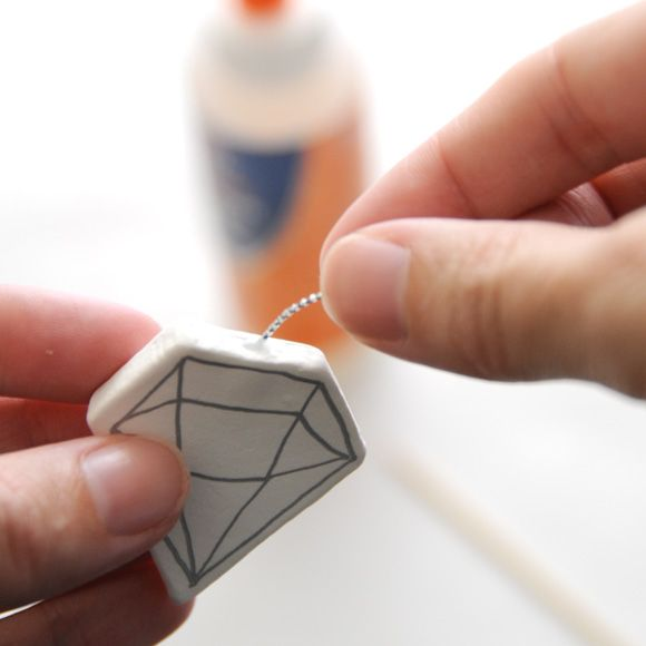 DIY Easy Geometric Gem ClayMobile.