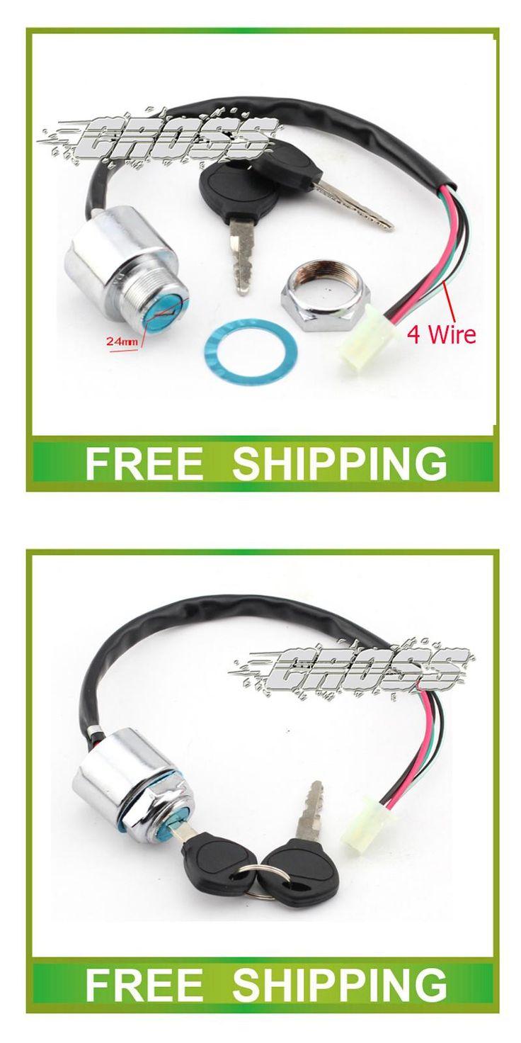 [Visit to Buy] BUYANG taotao atv quad ignition key switch lock key 50cc 125cc 150cc 200cc 250cc dirt pit monkey bike accessories free shipping #Advertisement