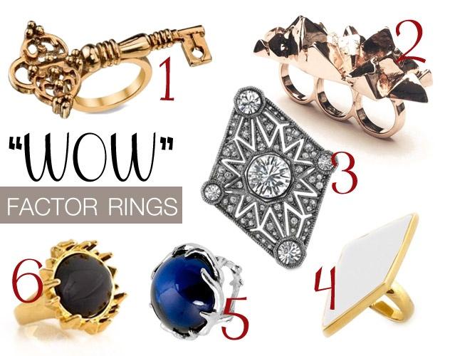 """WOW"" Factor RingsFactor Rings, Trends Watchin, Wow Factor, Promis Accessories, 100 Accessories, Trends Shops"