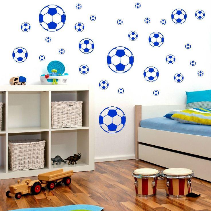Football Wall Stickers Boyr's Bedroom Wall Muraux Wallpaper CALCIO autoadesivo della parete arte vinile decalcomania stanza