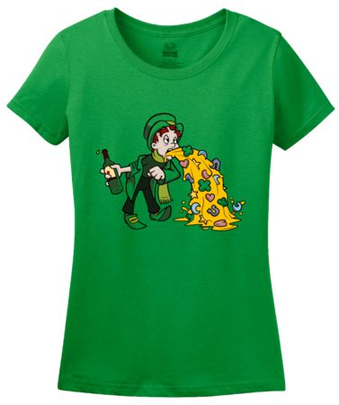 Un-Lucky Puking Leprechaun   Women's T-Shirt #annarbortees #stpatricksday #irish #shirts #womens