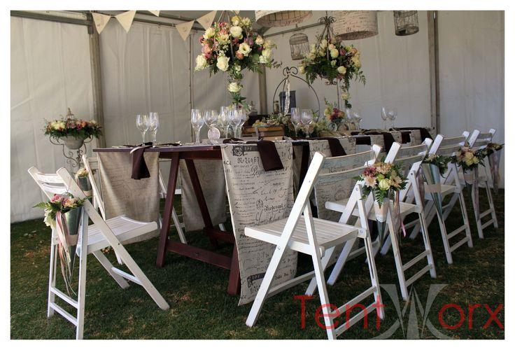 Vintage wedding set-up