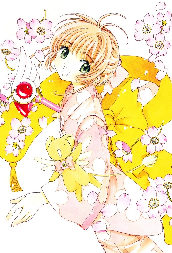 I love all of CLAMP's work!  Such beautiful art and heartwarming stories.  This features Sakura and Kero from Cardcaptor Sakura.  Her kimono is awesome!