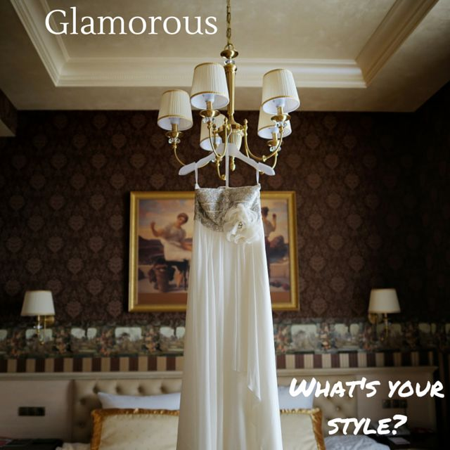 What's your wedding style? Are you a glamorous bride? Glamorous is always in fashion! Pick a venue with history, wood panelling, or manicured lawns. Keep your colours simple - whites, creams, greys or black with gold/rose gold accents. #weddingstyle