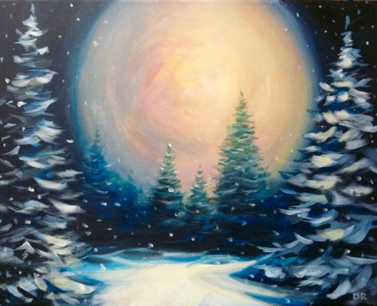 Best 25 winter painting ideas on pinterest for Paint and wine raleigh