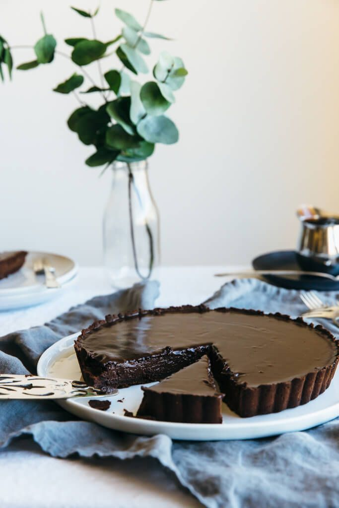 Chocolate Truffle Tart. A decadent dessert that's gluten-free, dairy-free and paleo.