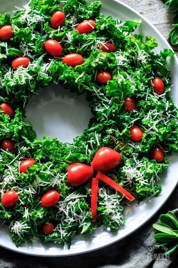 Kale Christmas Wreath Salad Recipe Salad Recipes Salad