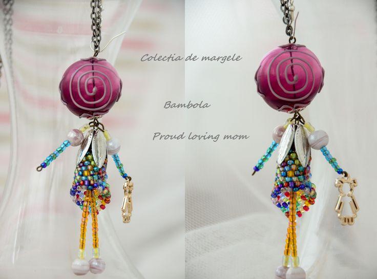 Bambola Proud loving mom by Colectia de margele  Please visit https://www.facebook.com/pages/Colectia-de-margele/1392796917646011
