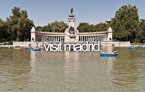 The number one place I have to go to asap, I have so much family here that I want to meet and visit. Plus I want to go to a legit Real Madrid vs Barcelona game!