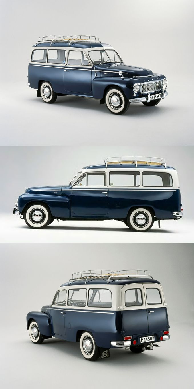1953 Volvo Duett / Sweden / blue white / stationwagon / 17-338