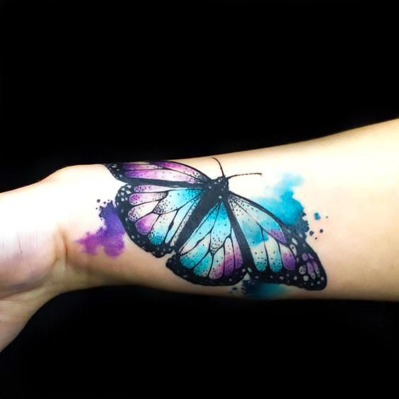 Beautiful Butterfly on The Wrist Tattoo Idea