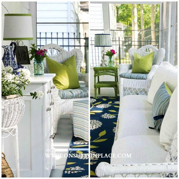 Summer Porch Decor | On Sutton Place