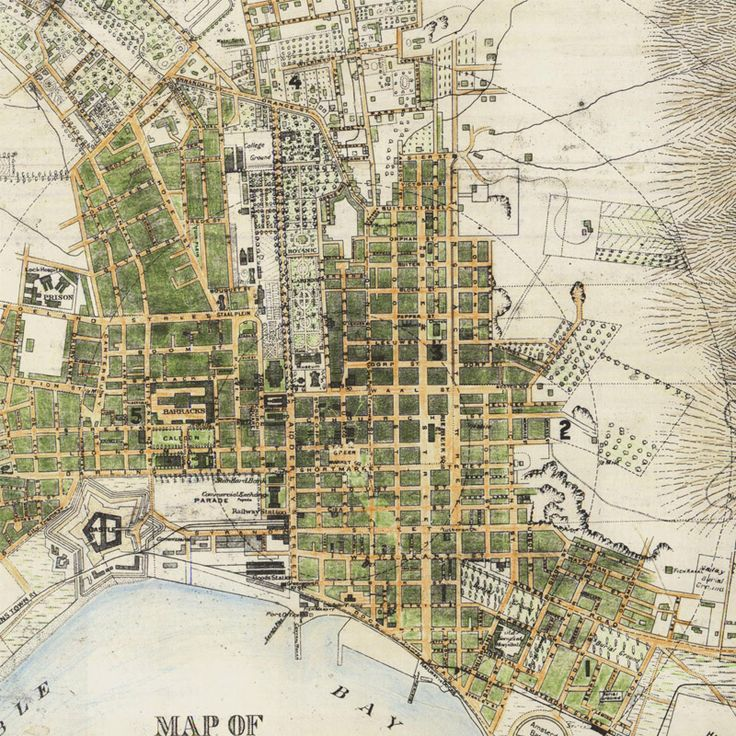 Map of Cape Town 1884