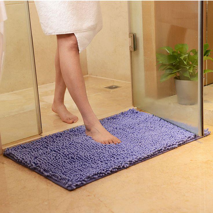 2017 New Solid Soft Floor Mats Bathroom Kitchen Mats Waterproof Floor carpets for living room Anti-Slip Rectangle Cute Rugs