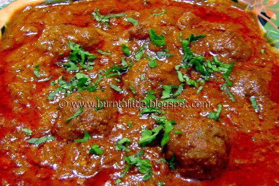 Kofta Curry (Curried Meatballs) Afghanistan