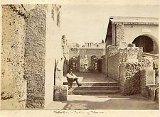 Albumen Photograph Italy Rome Palatine Portico 1870