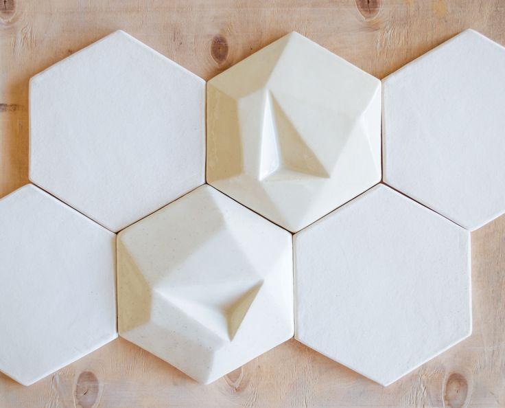 Керамическая плитка ручной работы 3d шестигранник. handemade tile 3d hexagon. Mira ceramic.