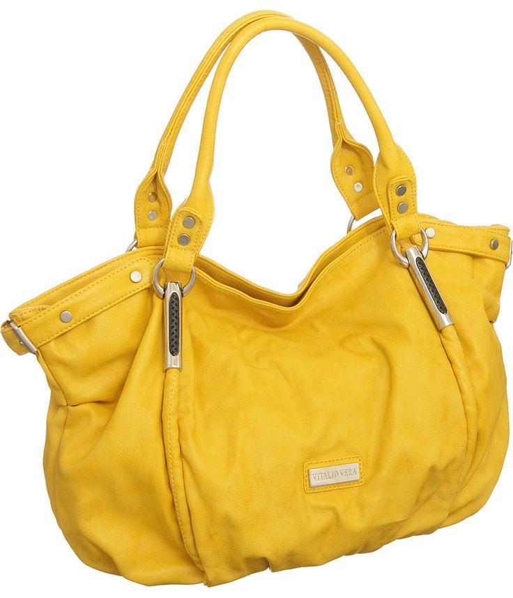 Purse Boutique: Yellow Oversized Limited Edition Vitalio ''Alicia'' Hobo, Purses
