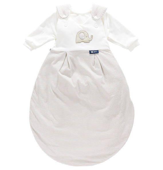 """Alvi Schlafsack """"Baby-Mäxchen Elefant"""" im 3er-Pack weiß-beige"""