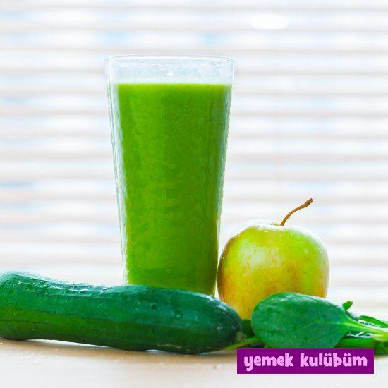 Elmalı Yeşil Smoothie nasıl yapılır, resimli Elmalı Yeşil Smoothie yapımı yapılışı, pratik Elmalı Yeşil Smoothie tarifi