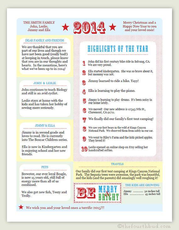 8 best christmascards letter images on pinterest christmas 2014 year in review christmas letter template in pdf for adobe reader be merry spiritdancerdesigns Gallery