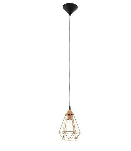Industrialna LAMPA wisząca E94193 druciana OPRAWA metalowy ZWIS IP20 drut miedziany