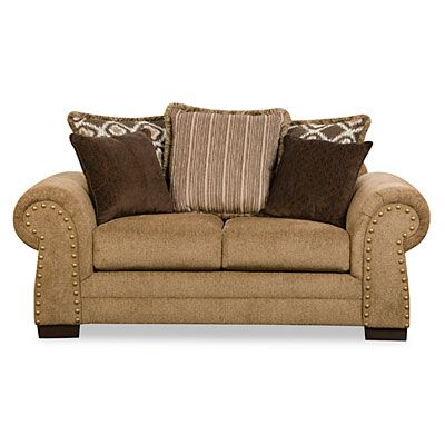 Simmons Lorenzo Teak Scatter Back Loveseat At Big Lots