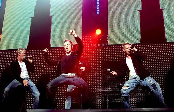 Westlife In Concert At Wembley Arena, London, Britain - 18 May 2006, Westlife - Kian Egan, Shane Filan And Nicky Byrne