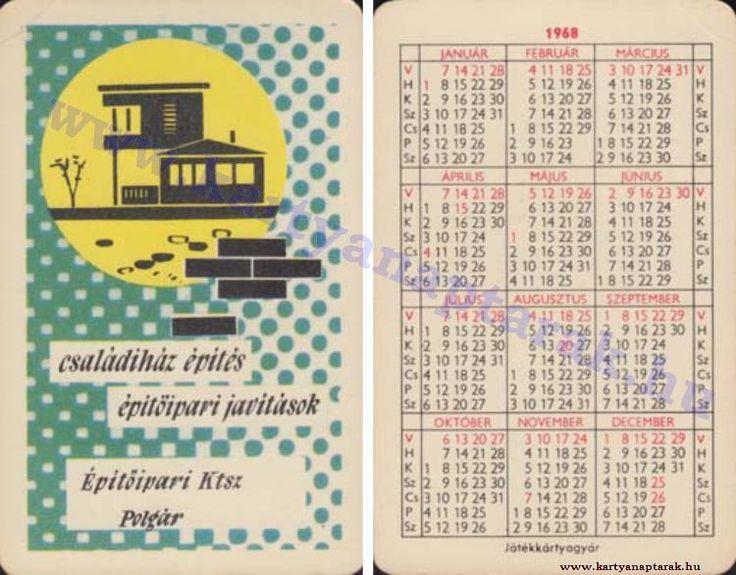1968 - 1968_0226 - Régi magyar kártyanaptárak
