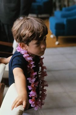 kennedylife: Young John Kennedy Jr. on vacation (Hawaii?)