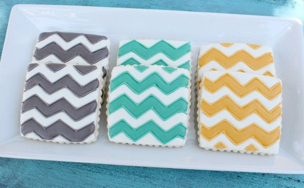 If these chevron cookies by Sweet Sugar Belle taste as good as they look then your guests will be in for a treat! Simply adapt the colours to suit your wedding design!