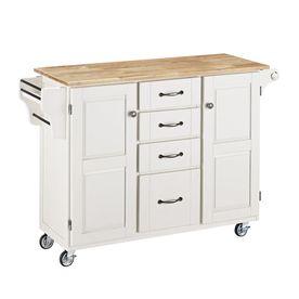 Home Styles White Scandinavian Kitchen Cart 9100-1021