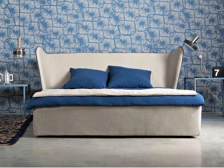 Double bed with high headboard BERGÈRE by Letti